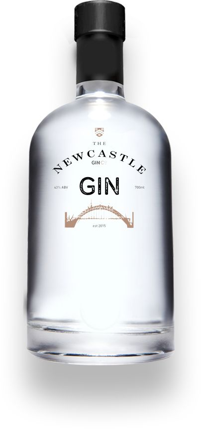 Well designed bottle for well balanced gin from the Newcastle Distilling Company