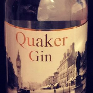 Quaker gin with an old picture of Darlington town centre